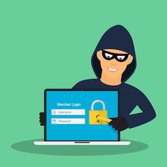 Konzept des hackens