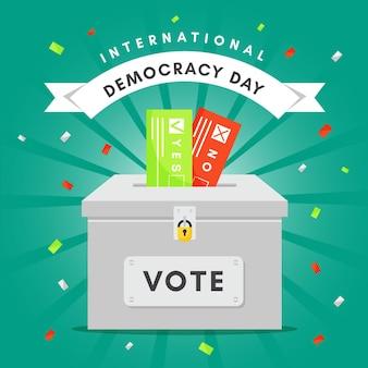 Konzept des internationalen tages der demokratie