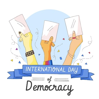 Konzept des internationalen tages der demokratie