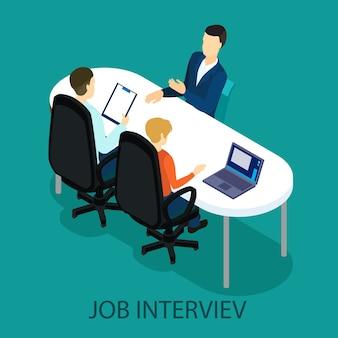 Konzept des isometrischen rekrutierungsprozesses