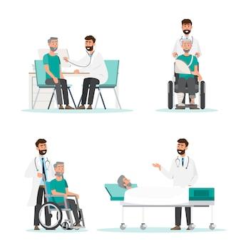 Konzept des medizinischen personalteams im krankenhaus