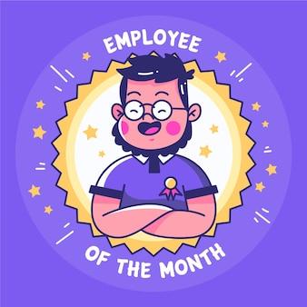 Konzept des mitarbeiters des monats