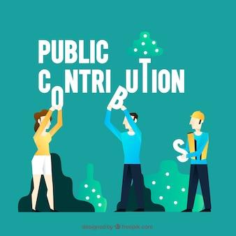 Konzept des öffentlichen beitrags