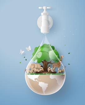 Konzept des öko- und wolrdwassertages