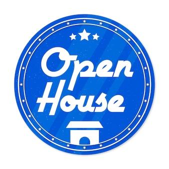Konzept des open house labels