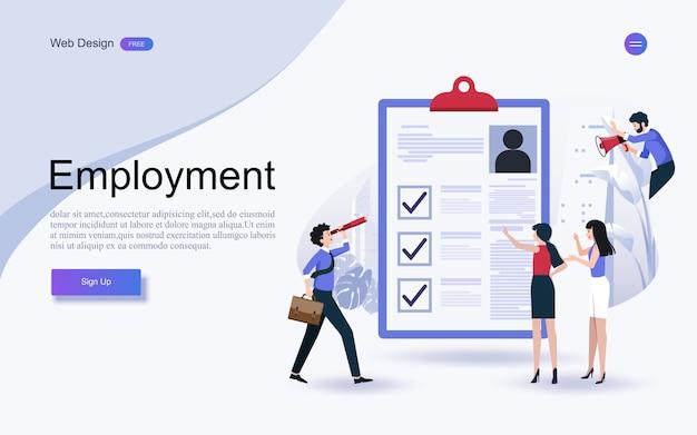 Konzept des personalwesens, beschäftigung an abgeschlossener checkliste auf klemmbrett.