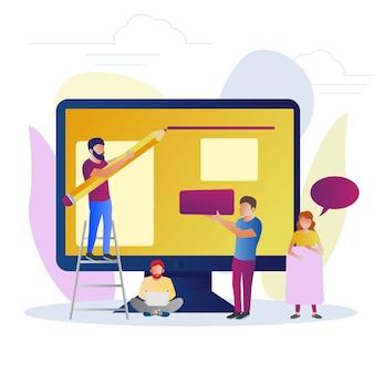 Konzept des programmierers und designers