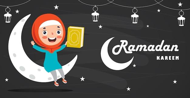 Konzept des ramadan kareem und der islamischen kultur