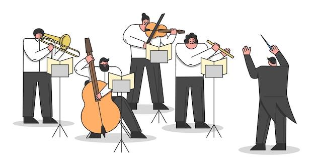 Konzept des sinfonieorchesters