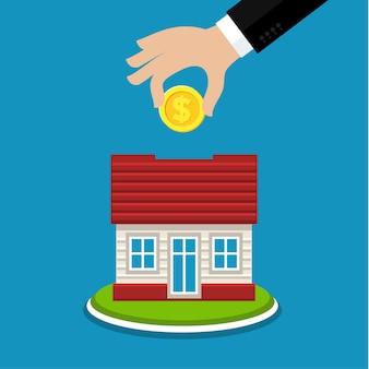 Konzept des sparens und investierens von geld.