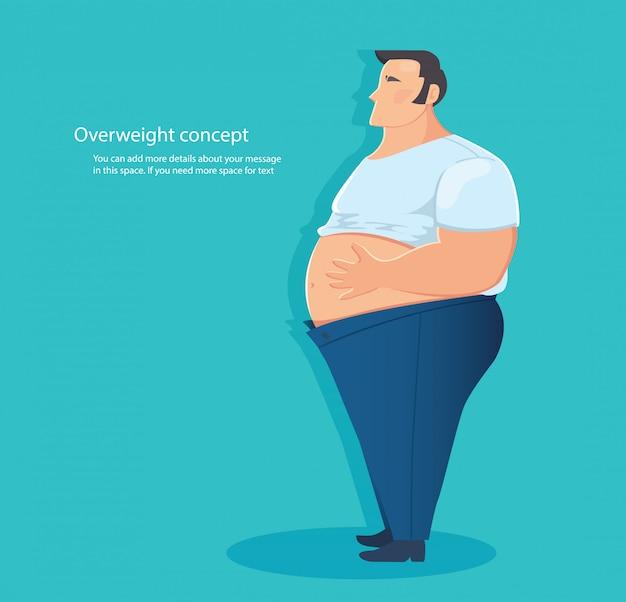Konzept des übergewichtigen charakters