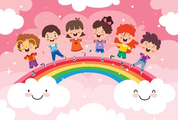 Konzept eines bunten regenbogens