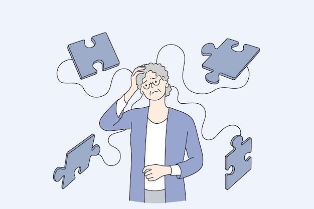 Konzept für alzheimer-krankheitspatienten