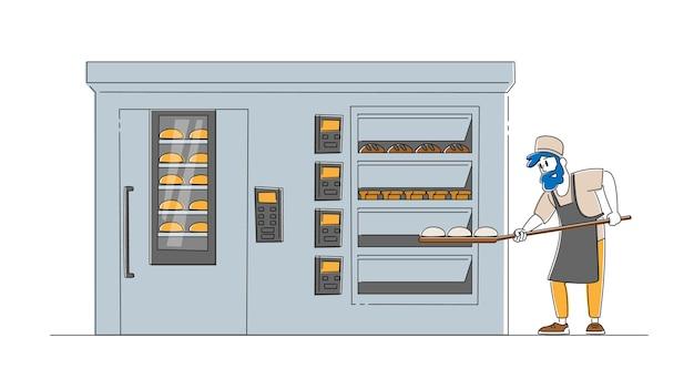 Konzept für bäckerei und brotproduktion