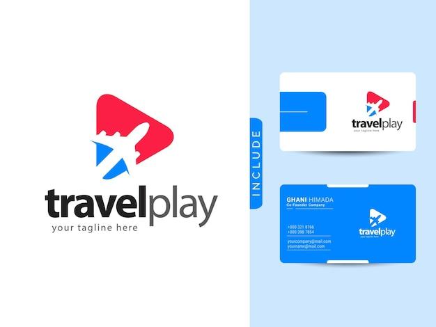 Konzept für das design des reiselogos