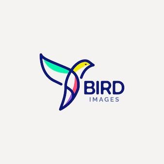 Konzept für das design des vogelfliegen-logos