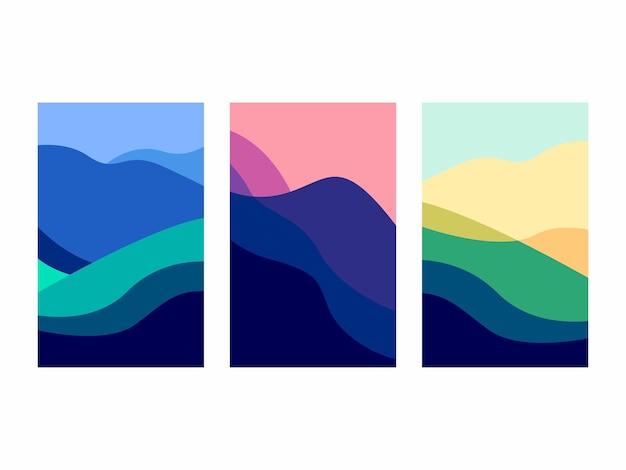 Konzept für das design von berglandschaftsplakaten