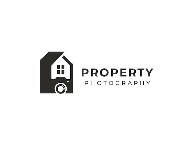 Konzept für das design von immobilienfotografie-logos