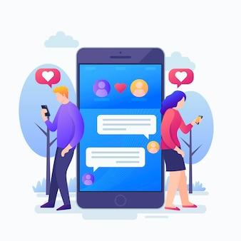 Konzept für dating-app