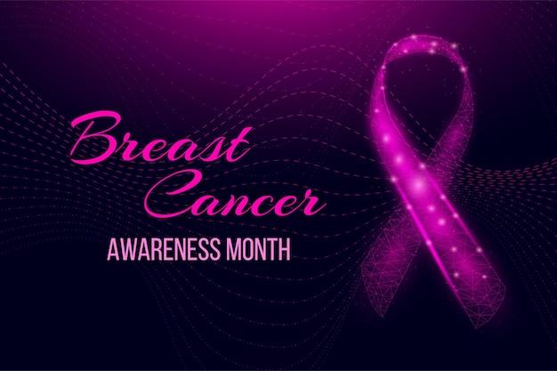 Konzept für den monat des bewusstseins für brustkrebs.