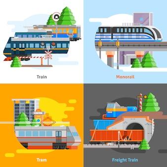 Konzept für den schienentransport 2x2