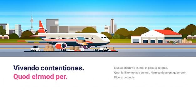 Konzept für den warentransport per fluggesellschaft