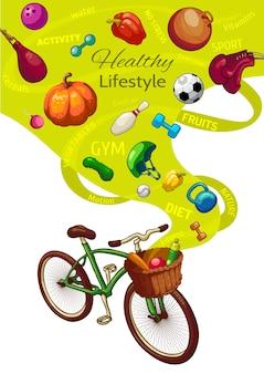 Konzept für einen gesunden lebensstil