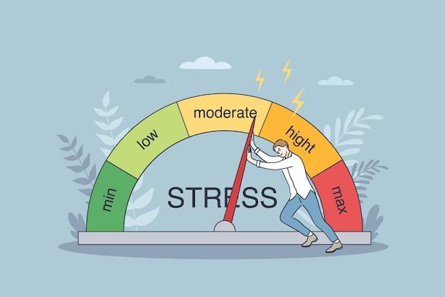 Konzept für emotionale überlastung und burnout.