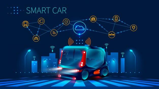 Konzept für fahrerassistenzsysteme. autonomes auto. fahrerloses auto