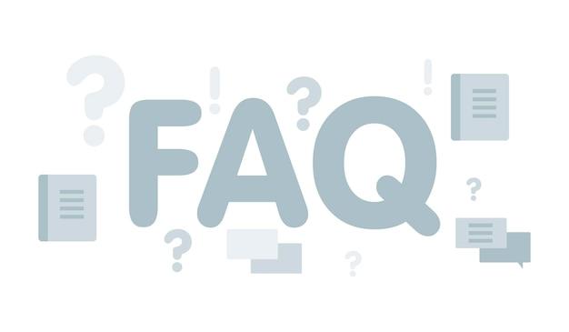 Konzept für faq-website-banner. vektorillustrationskonzept für häufig gestellte fragen oder fragen