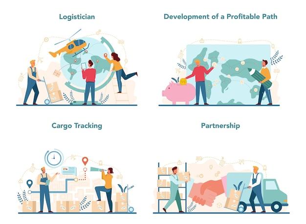 Konzept für logistik und lieferservice