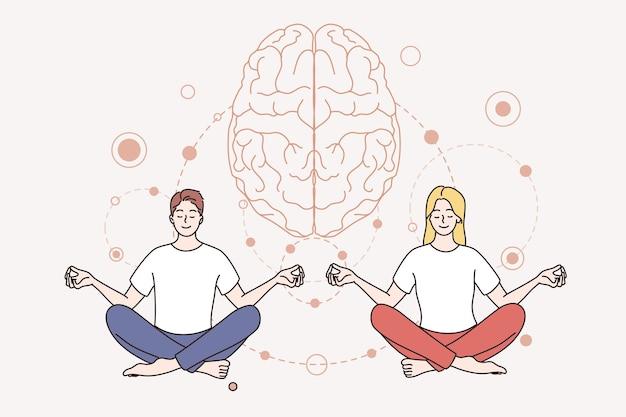 Konzept für meditation und psychische gesundheit