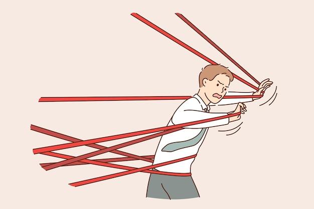 Konzept für probleme mit geschäftsschwierigkeiten