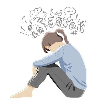 Konzept für psychische störungen, verwirrung und depressionen