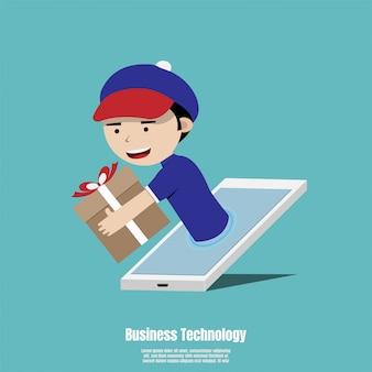 Konzept für schnellen online-lieferservice
