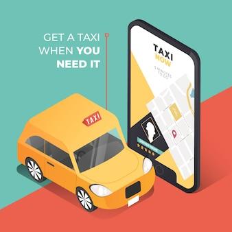 Konzept für taxi app
