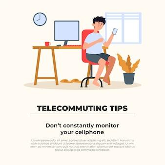 Konzept für telearbeitstipps