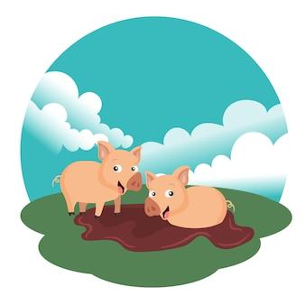 Konzept für tierfarm