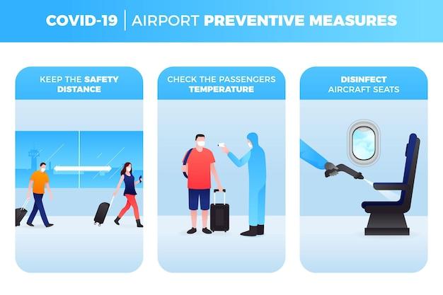 Konzept für vorbeugende maßnahmen am flughafen