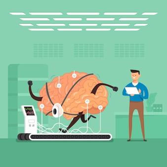 Konzept geschäftsmann training gehirn in labors. veranschaulichen.