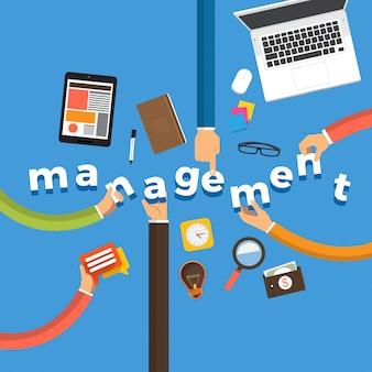 Konzept hand erstellen management. abbildungen.
