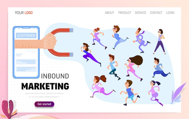 Konzept inbound marketing