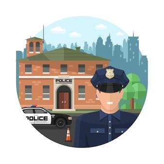 Konzept polizei zusammensetzung
