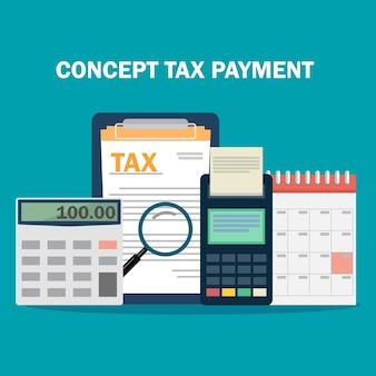 Konzept steuerzahlung.