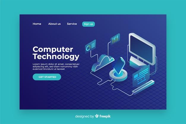 Konzept-technologie-landing-page-vorlage