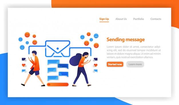 Konzept über mobile chat-apps