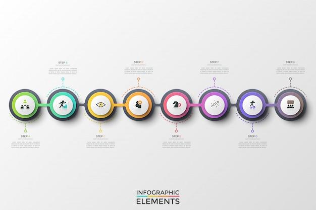 Konzept von 8 aufeinanderfolgenden entwicklungsschritten