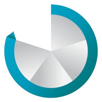 Konzept von bunten kreisförmigen bannern mit pfeilen für verschiedene b