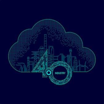 Konzept von industrie 4.0