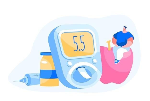 Konzept zur behandlung und zum lebensstil von diabetes-patienten